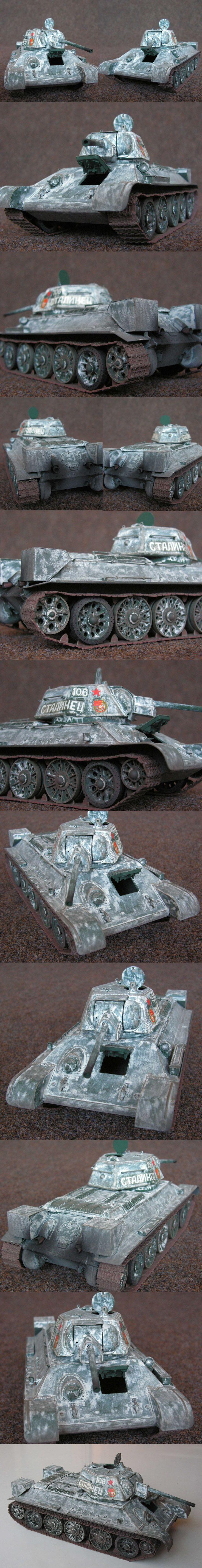 T 34/76  mod. 1943 30. gard. tank. brigáda, Leningrad, listopad 1943 Italeri