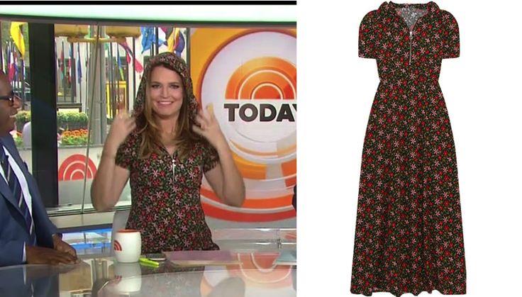 Savannah Guthrie's Floral Print Hooded Dress http://www.bigblondehair.com/savannah-guthries-floral-print-hooded-dress/ #Today #TodayShow