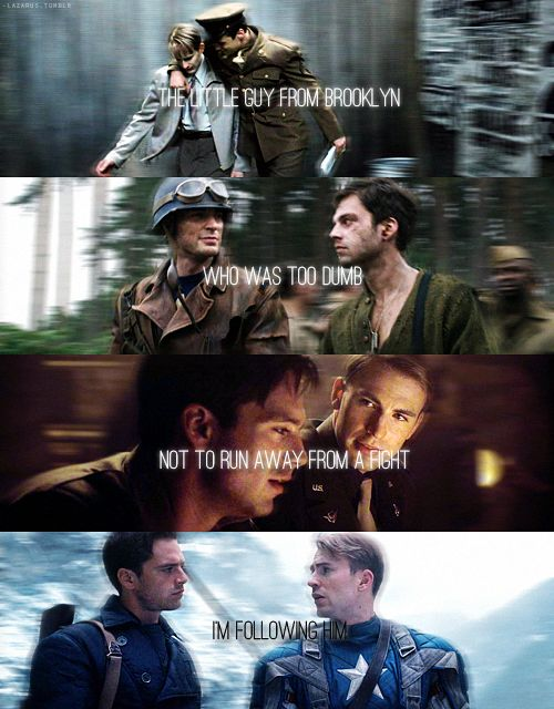 Captain America.                                     How they look at each other!!!!!!!