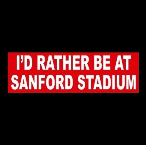 """I'D RATHER BE AT SANFORD STADIUM"" Georgia Bulldogs BUMPER STICKER decal UGA SEC #GeorgiaBulldogs"