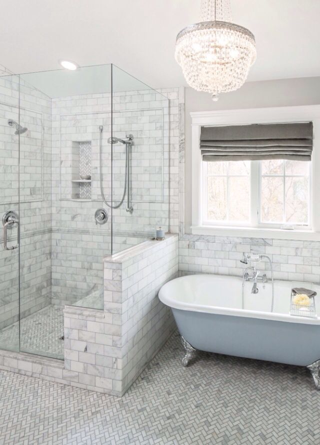 White and Grey bathroom style
