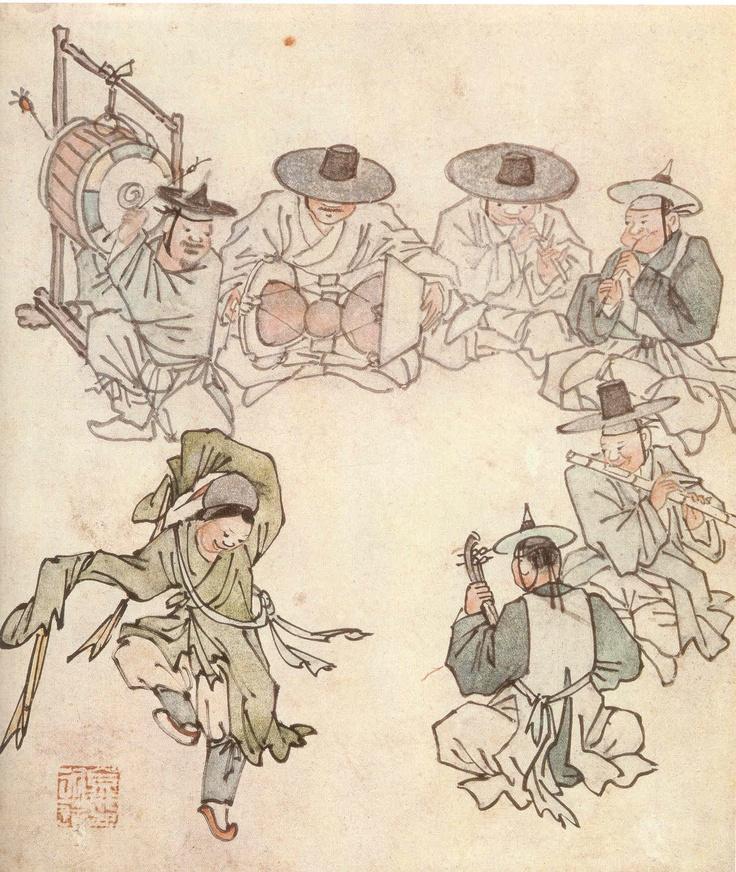 A boy dancer  Kim Hong Do [1745 ~ ?]
