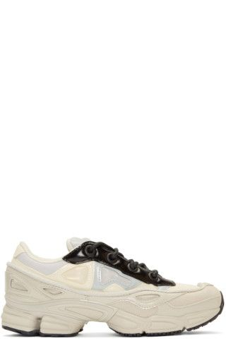promo code 15be9 a7ed4 Low-top canvas sneakers colorblocked in  core  white and  stone  grey.  Transparent silicone appliqués, tonal technical mesh …   Shoes -  Tennis Anklecut ...