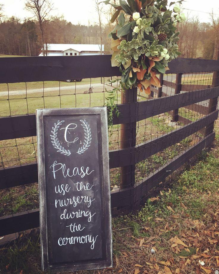 Chalkboard sign at our barn wedding venue in Alabama ...