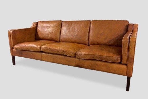 A Beautiful Three Seater Leather Sofa
