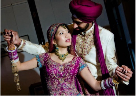 Asian/Indian Fusion weddings! love the fact the world is becoming one