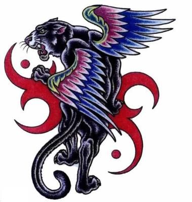 I like the wings but i'd take out the red or change the colors and make the tiger black & white & more realistic looking...I think this one looks more like a panther especially with the green eyes.