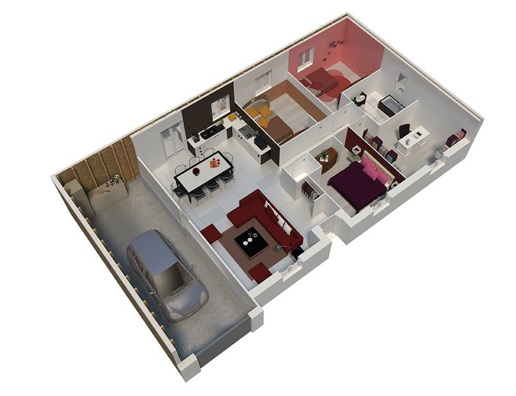 217 best Plan Maison images on Pinterest Floor plans, Dream home - Concevoir Sa Maison En 3d
