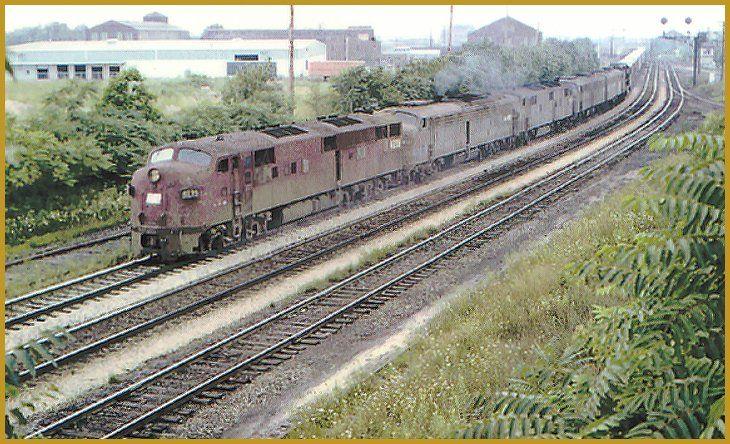 Penn central e7a 4233 pennsylvania railroad railroad