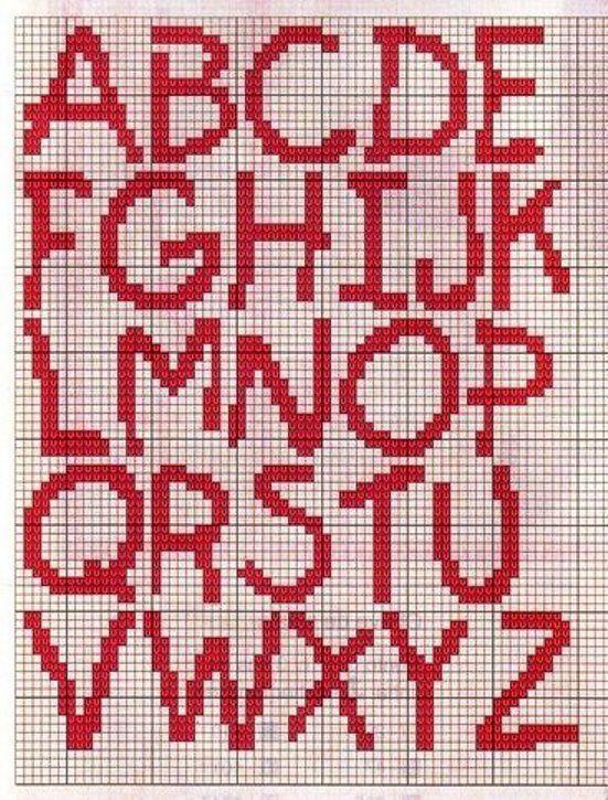 Schema punto croce Alfabeto-9