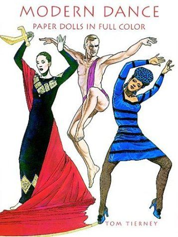 Modern Dance: Paper Dolls:   divEight full-color paper dolls and 21 exquisite costumes capture the lavish ambience of modern dance. Isadora Duncan, Martha Graham, Ruth St. Denis, Ted Shawn, Loie Fuller, Erick Hawkins, Hanya Holm and Katherine Dunham are depicted. Essay on inside covers. Captions.br/div