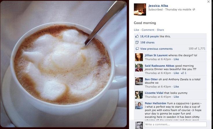 Cappuccino z Jessicą Albą na Fejsie - NowyMarketing - Where's the beef?