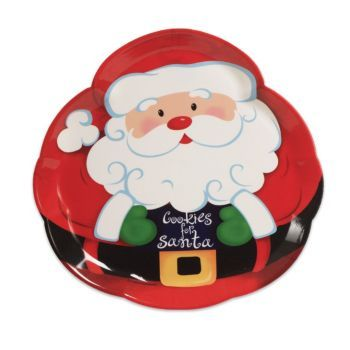 Display your Christmas cookies on this adorable Santa Claus Plastic Serving Tray!