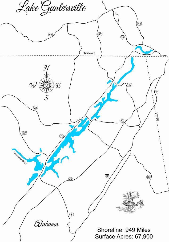 map of lake guntersville Pin On Lake Guntersville Alabama map of lake guntersville