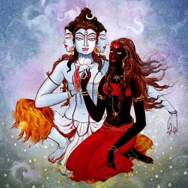"""Mahadev and Kaali - """"The goal of each spiritual discipline is either transformation or transcendence."""" https://bhaeravakaala.org/2017/02/16/the-concept-of-self-and-the-transformation/"""
