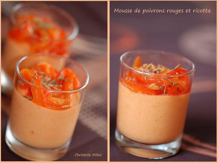 Mousse de poivrons rouges et ricotta : la recette facile