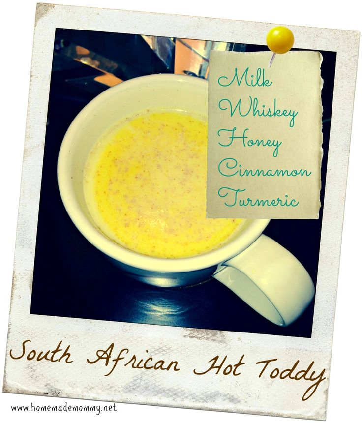 You MUST try this South African style 'Hot Toddy' - Warm milk + whiskey + honey - what could be better than that for a night cap?!   via Homemade Mommy ... 'Modified with a bit of cardamom?  Hmmmmmmm.....