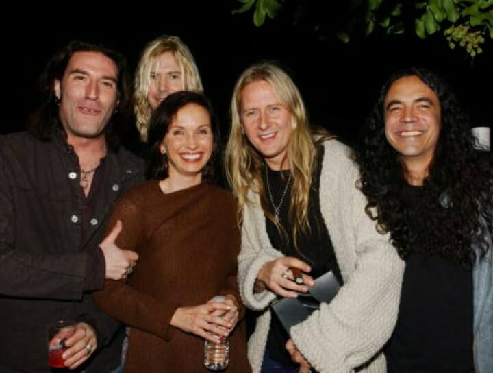 Sean Kinney, Duff McKagan, Jerry Cantrell and Mike Inez with manager Susan Silver in Jerry Cantrell's Birthday Party,  March 18 2006.