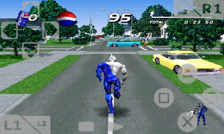 Playing PEPSI MAN.  old great game.