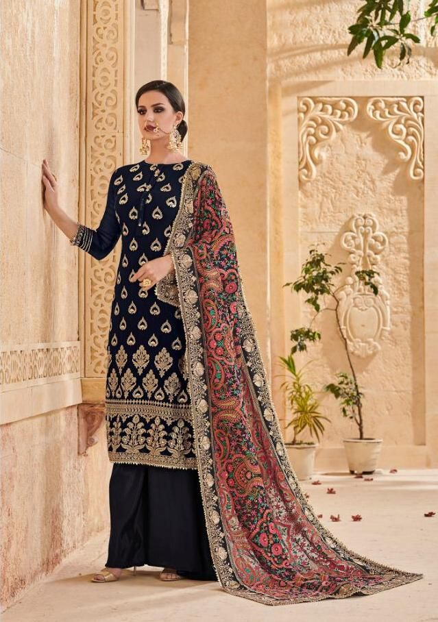 7e56d7bf77 Shree Fab Mutiyaar Georgette With Embroidery Suit (5 Pc Set ...