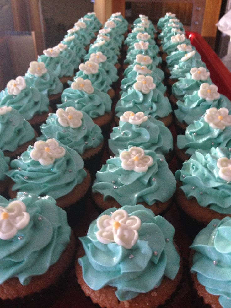 Baby boy christening cupcakes by Sweet Cantina