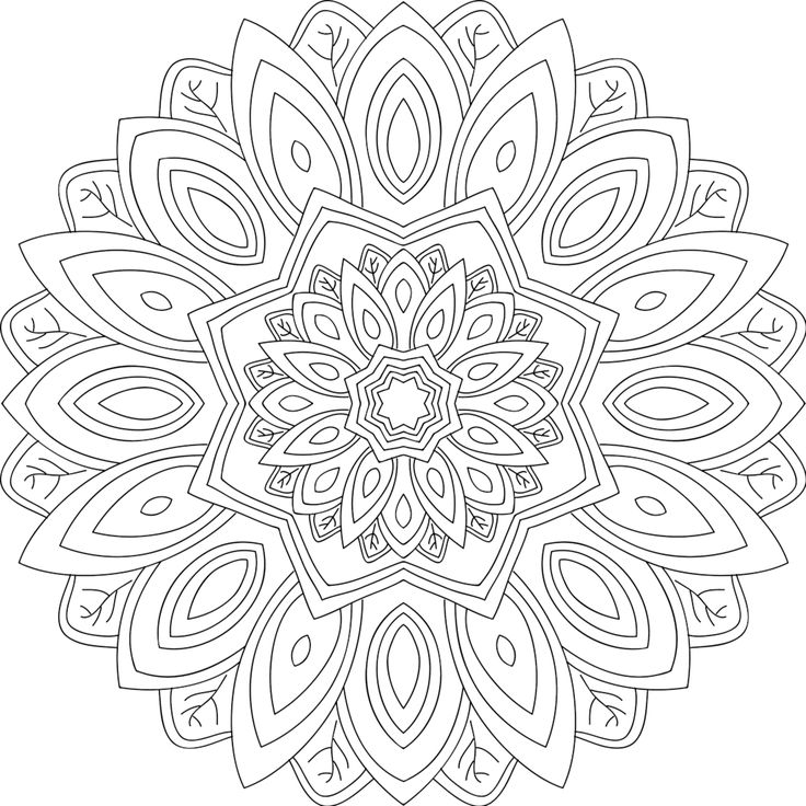 water mandala coloring pages | 12 best coloring pages monday mandala images on Pinterest ...