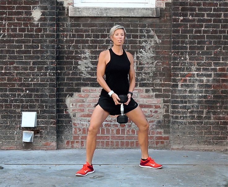 Weighted Sumo Squats - Steal this move from Carrie Underwood's personal trainer