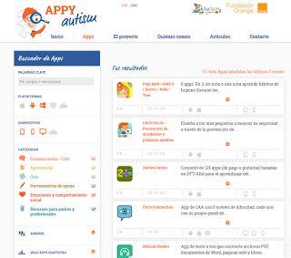 RECURSOS AULA DE APOYO: Appyautism es un buscador de aplicaciones.
