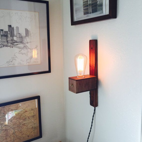 walnut plug in wall sconceplug in bulbexposed braided charcoal grey cloth pendant wall sconce