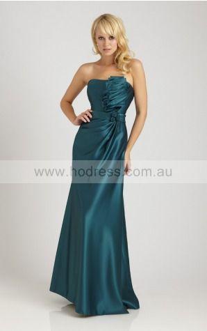 Zipper Floor-length Natural Sheath Satin Formal Dresses amfa307035