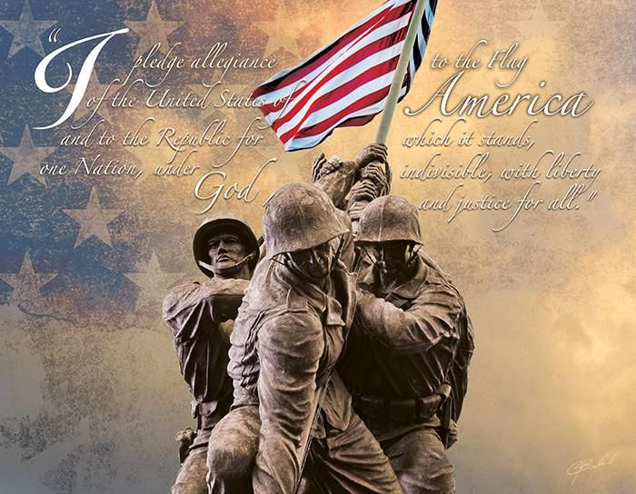 Pledge of Allegiance - No Greater Love Art  - 1