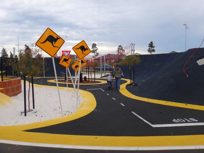pitstop playground, race track, banksia grove, playground ...