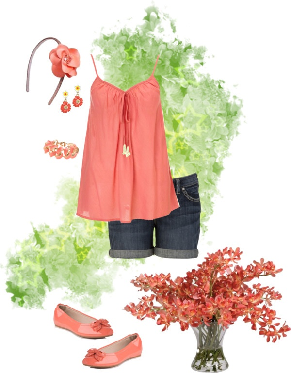 """""""Perfect Peach Outfit"""" by ginger ❤ liked on Polyvore"""
