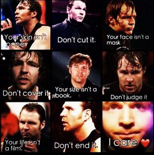 My inspiration. Thank you Dean Ambrose