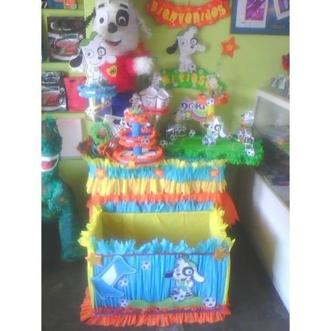 Combo Doki Futbolista Piñata Chupetero Cotillones Torre