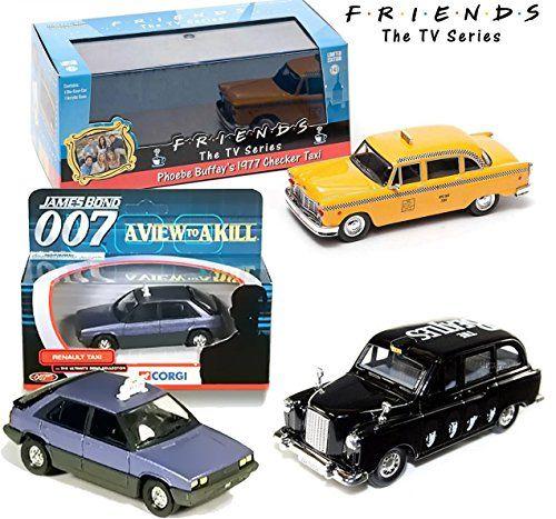 NEW YORK - PARIS & LONDON Taxi Cab Set - Friends NY Yellow Checkered Taxi Beatles Black Cab James  @ niftywarehouse.com #NiftyWarehouse #Bond #JamesBond #Movies #Books #Spy #SecretAgent #007