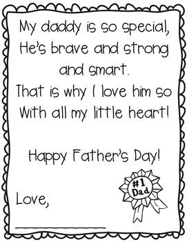 Free Father's Day Poem