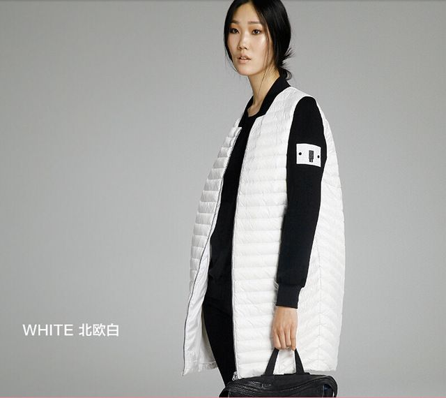 MISUN 2016 winter coat women baseball uniform wide-waisted light thin zip long patchwork long-sleeve 90% white duck down parkas US $77.99 To Buy Or See Another Product Click On This Link  http://goo.gl/yekAoR