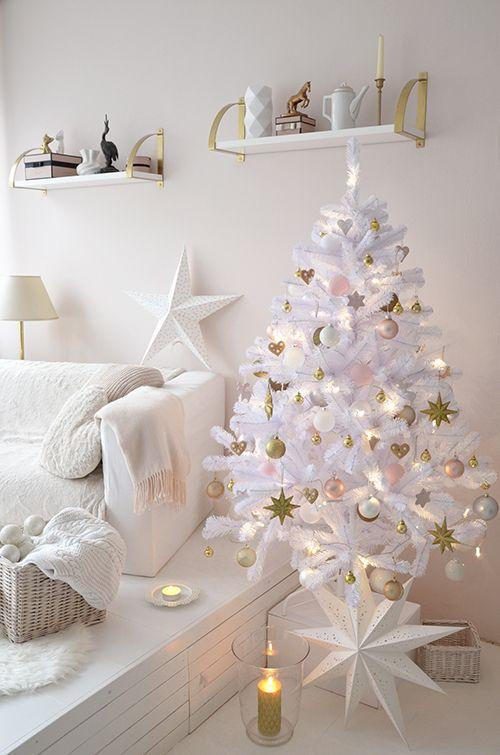 White Christmastree in my livingroom ❤