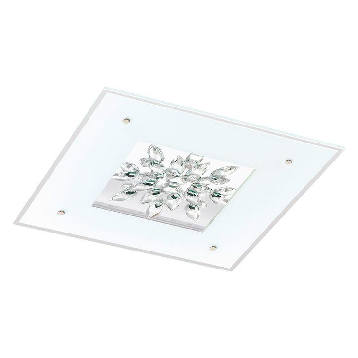 EEK A+, LED-Deckenleuchte Benalua - Glas / Kristallglas - 4-flammig - 47, Eglo