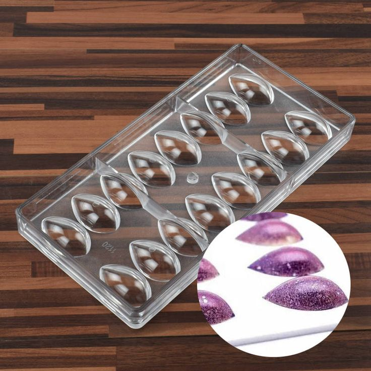 Hard Plastic Olive Fruit Drop Water Lemon Lotus Shape PC Polycarbonate Chocolate Mold Candy Fondant Mould Ice Cube Jelly Making Mold by MsDIYSupplies on Etsy