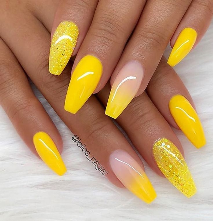 60 Gorgeous Natural Yellow Acrylic Nails Design Spring & Summer in 2019 – Page 16 of 58