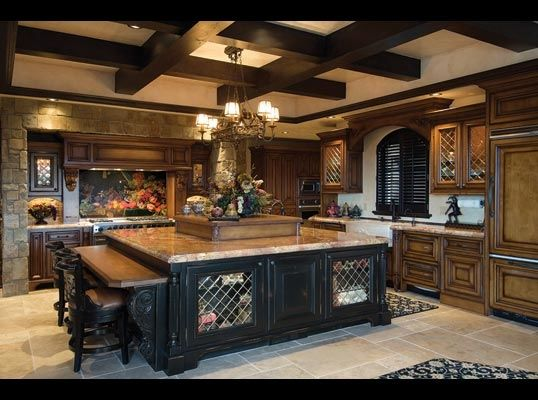 677 best images about dream kitchens on pinterest for Luxury french kitchen