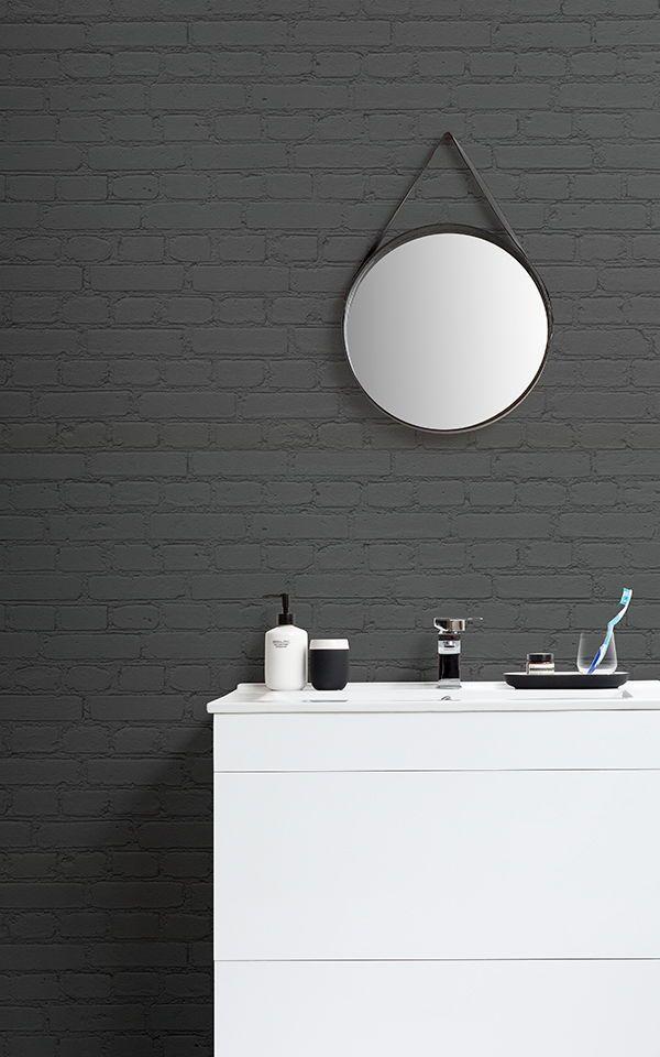 Phenomenal Black Brick Wallpaper Dark Brick Effect Muralswallpaper Download Free Architecture Designs Ogrambritishbridgeorg