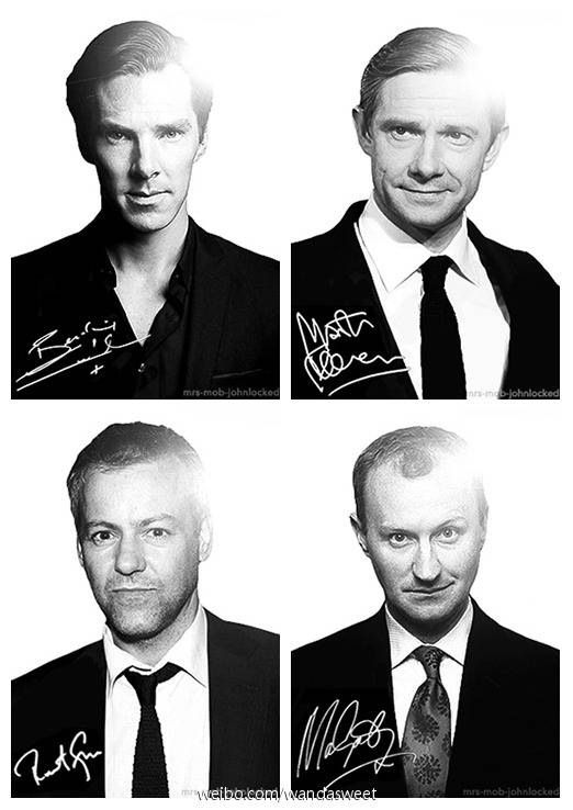 Sherlock cast. Great guys!! :) Love them...what a  nice team!