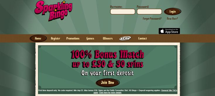 Sparkling Bingo Header Sparkling is the new supercharged online Bingo. They have a unique concept - Supercharged wins! Every time you play a game and you win, Sparkling Bingo will fill every winner with extra cash bonus, no matter how big or small your winning spin was.