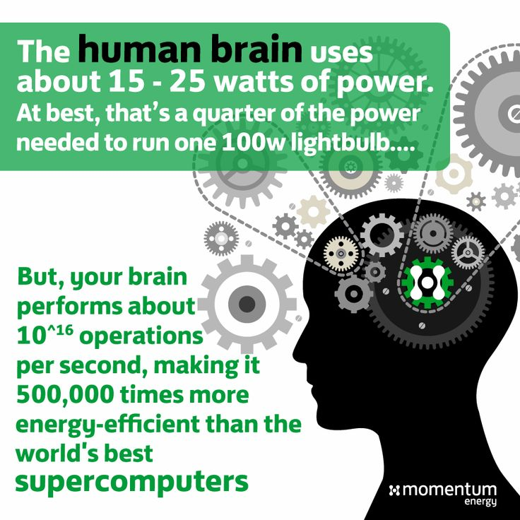 You are an amazing piece of engineering. Is it fair to compare synapses firing to computer processes? Probably not but it's fascinating anyway. #mythbuster #didyouknow #energy