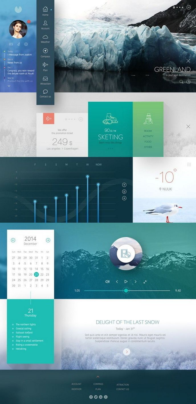 Sharepoint site design ideas - I Really Like This Ui Ux Gradient Design Because Of Its General Arrangement Of Elements Like Navigation Typography Imagery