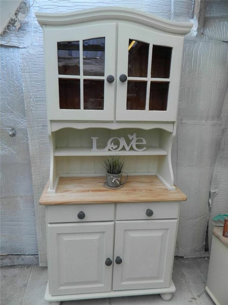 SHABBY STUNNING SOLID PINE WELSH DRESSER / STORAGE DISPLAY PAINTED