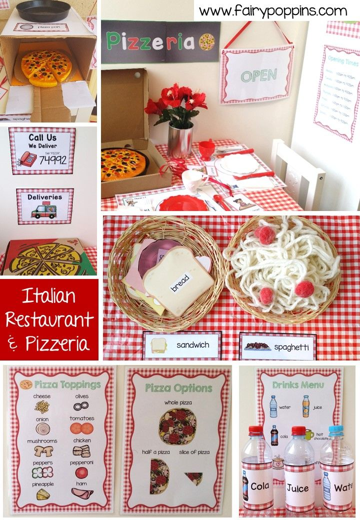 Kids Pizza Delivery Dramatic Play Preschool Dramatic Play
